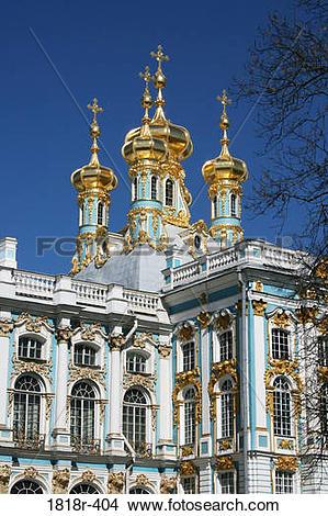 Stock Photo of The Imperial Palace at Tsarskoe Selo, near St.
