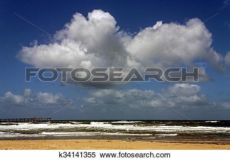 Stock Image of Imperial Beach, California, beautiful cloud.