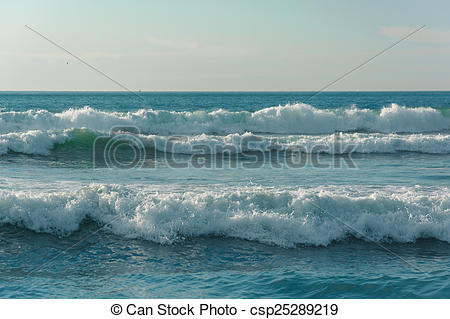 Stock Photography of Waves in the Pacific Ocean, in Imperial Beach.