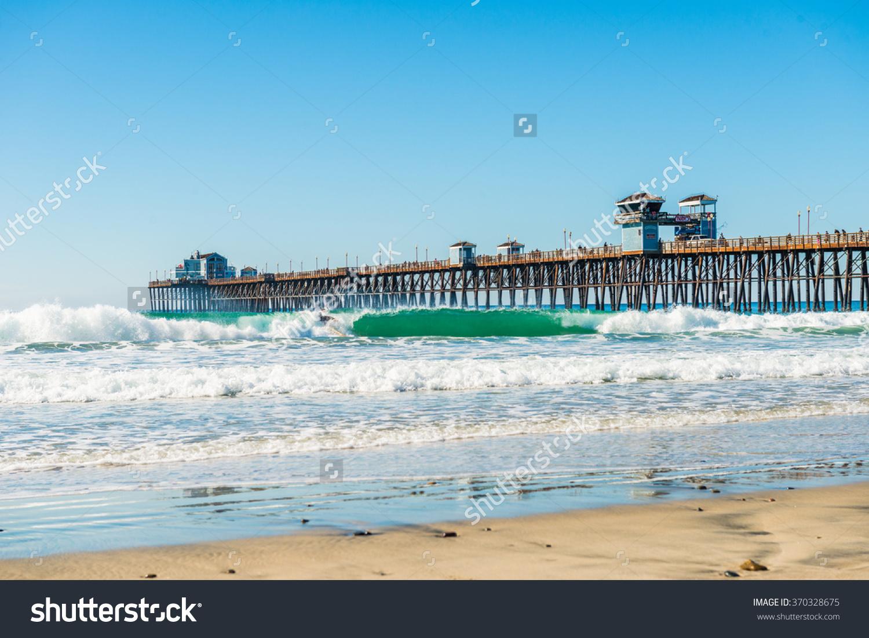 The Fishing Pier Trestle Bridge In Imperial Beach, San Diego.