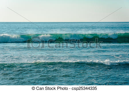 Stock Photos of Waves in the Pacific Ocean, in Imperial Beach.