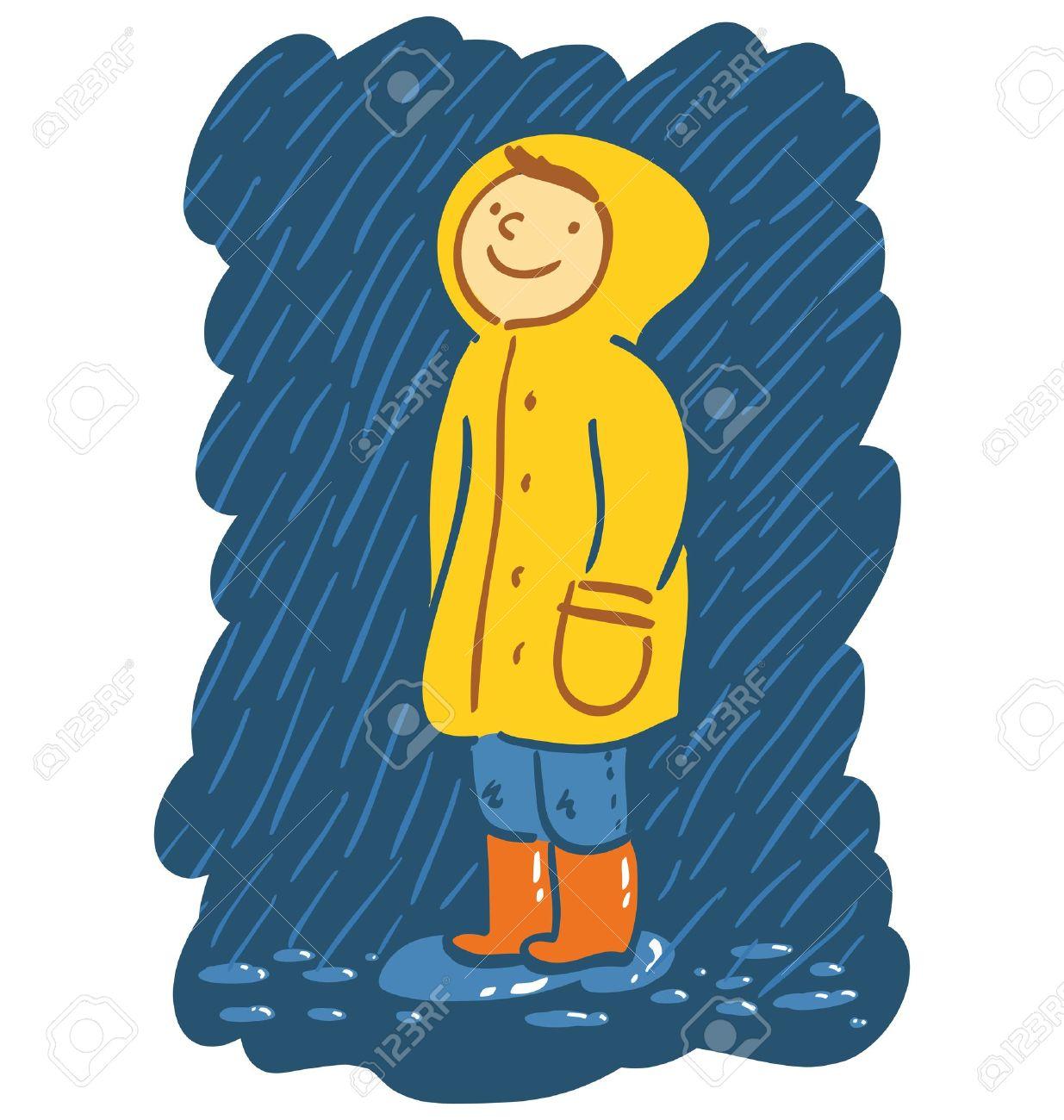 Kids raincoat clipart.
