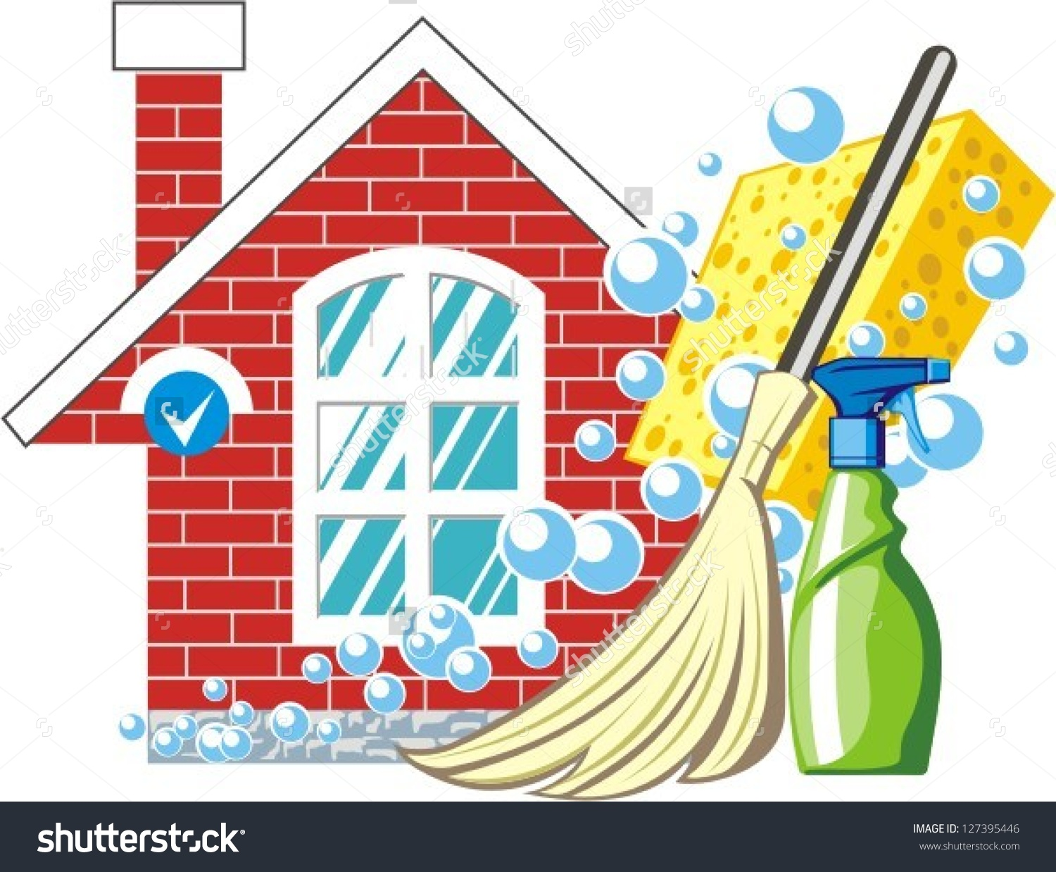 Cleaning clip art vector.