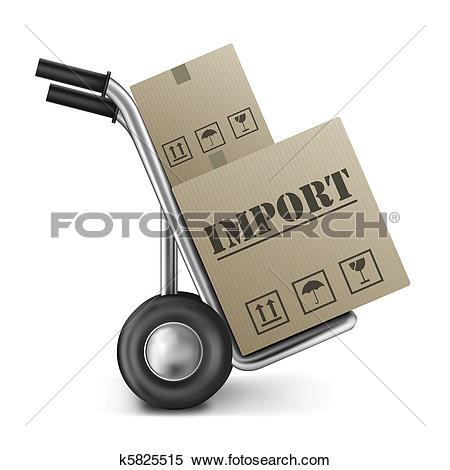 Clip Art of import cardboard box k8763272.