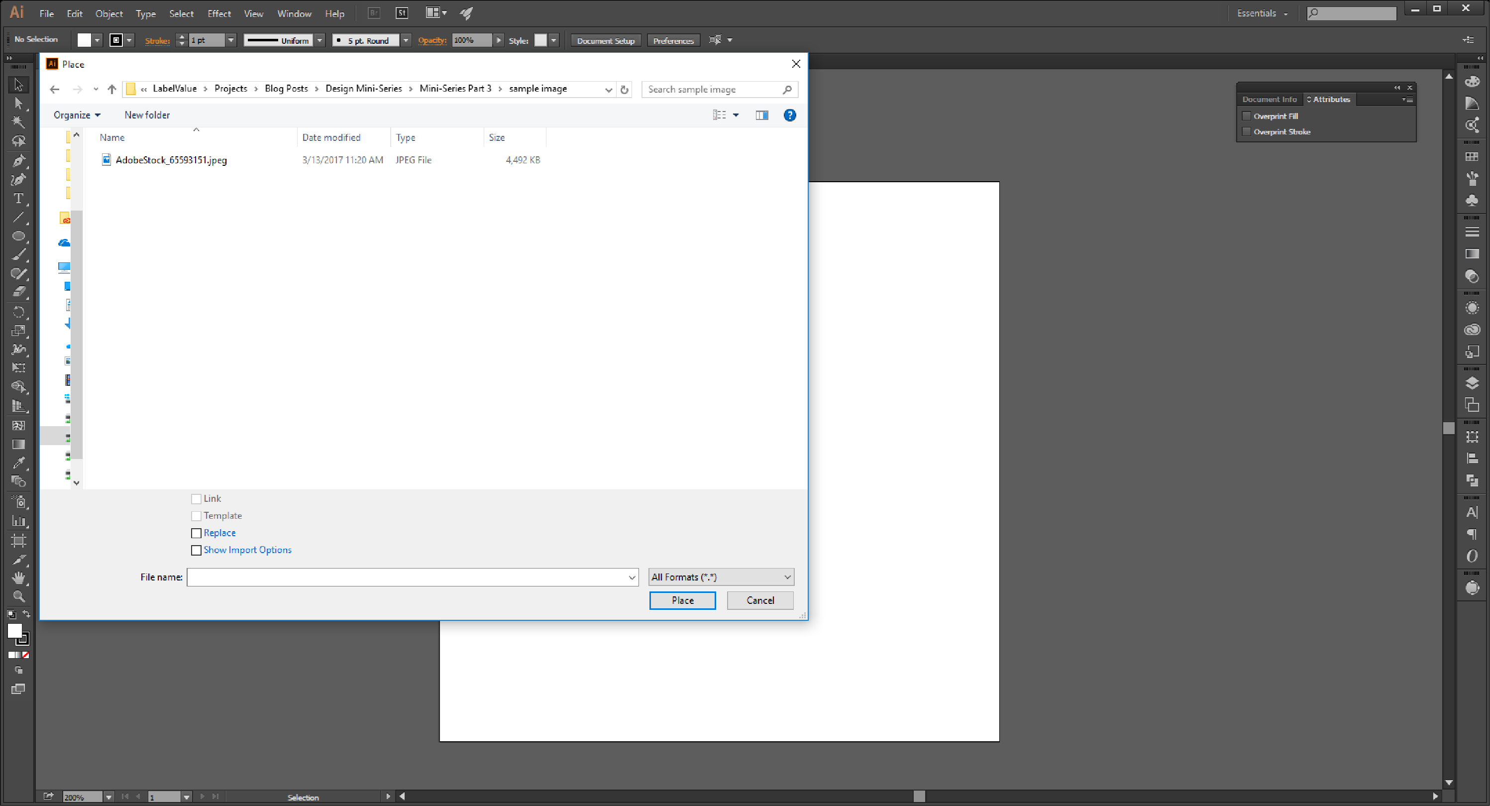How to Link and Embed Images in Adobe Illustrator: Design.