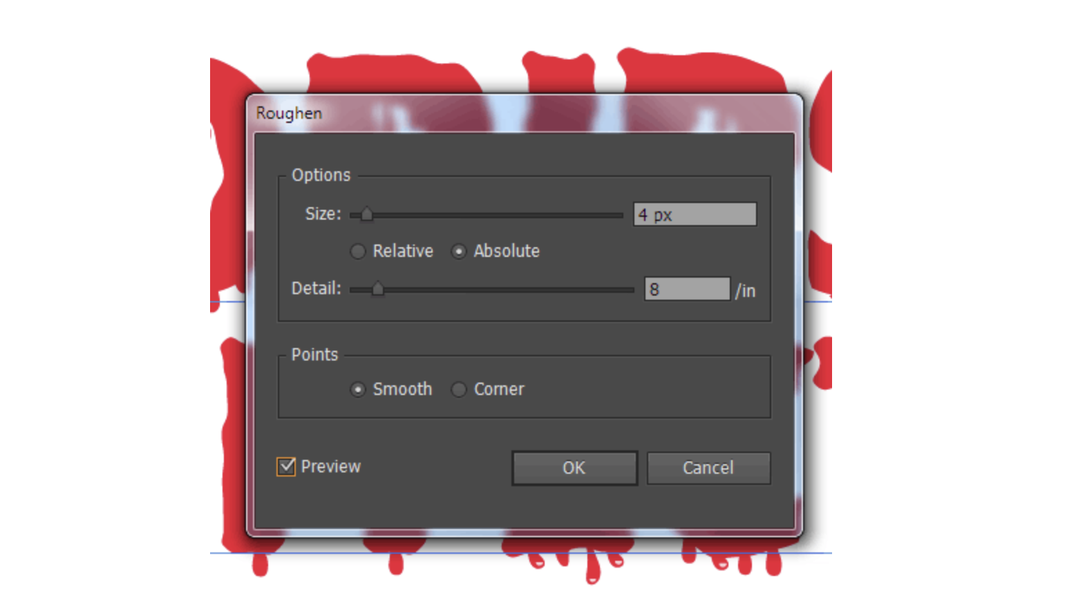 How to create dripping effect for editable text with.