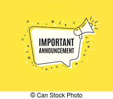 Important announcement Clip Art Vector and Illustration. 4,228.