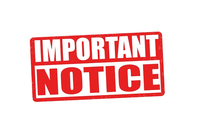 IMPORTANT NOTICE: Notice of Special General Meeting.