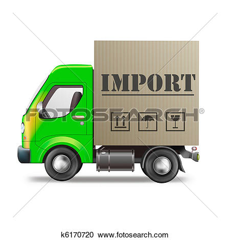 Clip Art of import cardboard box k8763272.