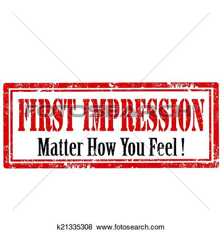 Clip Art of First Impression.