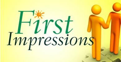 First impression clipart.