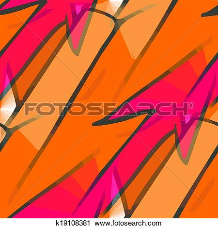 Clipart of seamless texture (EPS 8) america yellow, brown, red.