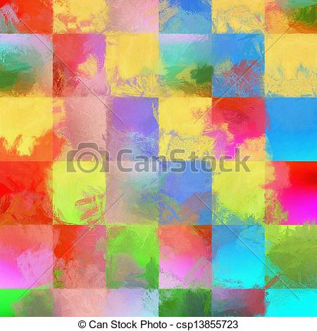 Clip Art of Abstract impressionist.