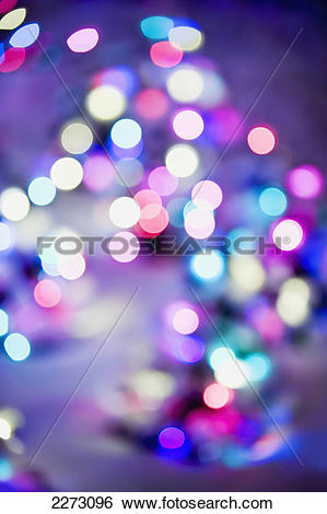 Stock Images of Impressionistic christmas lights; edmonton alberta.