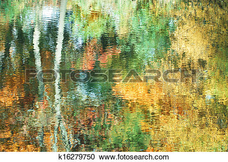Stock Photography of Abstract impressionistic vivid autumn.