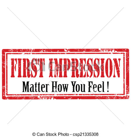 First impressions clipart.