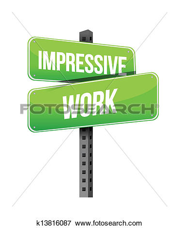 Clip Art of impressive work road sign illustration design.