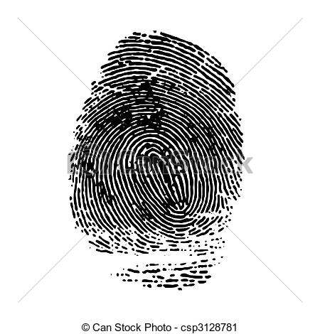 Vector Clipart of imprint of index finger. Vector il.