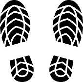 Clipart of vector clean shoe imprint k12600575.