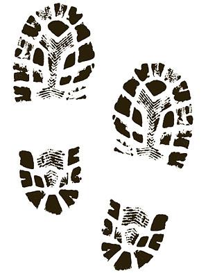 Boot Imprint Clipart.