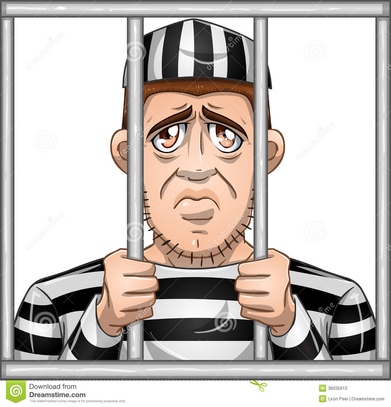 Behind Bars Clipart.