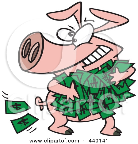 Rolling In Money Clipart.