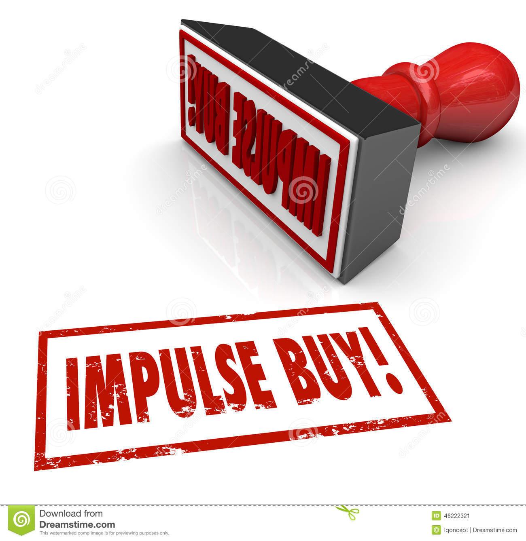 Impulse Buy Stamp Word Desire Feeling Emotional Purchase Stock.