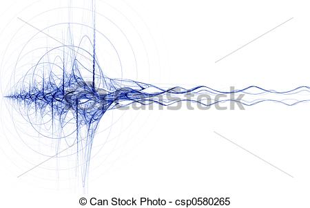 Stock Illustrations of blue energy impulse on white background.