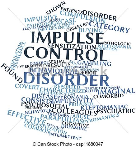 Drawing of Impulse control disorder.