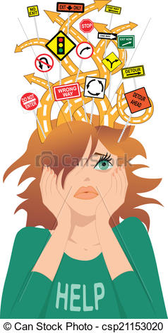 Vector Illustration of Teenager with ADHD.