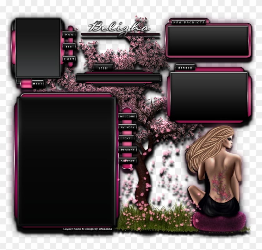 Imvu Homepage Design Resume My Avatar Page Belizha, HD Png Download.