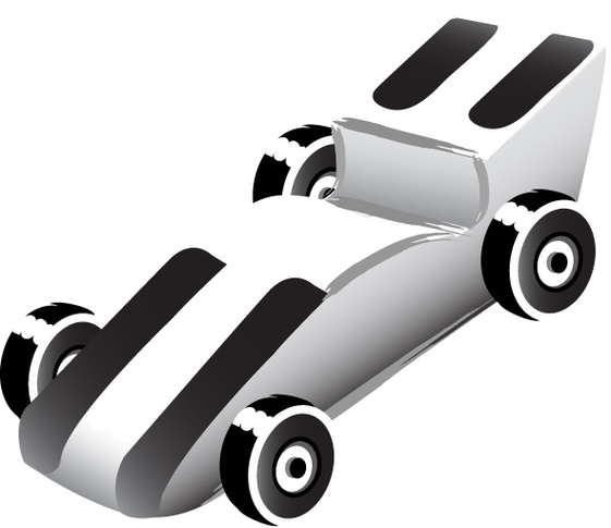 Pinewood Derby 2002 Clipart.