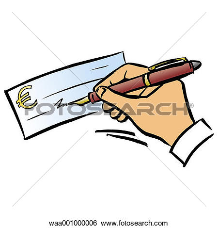 Stock Illustration of cheques, change, upheaval, evolution, 2002.