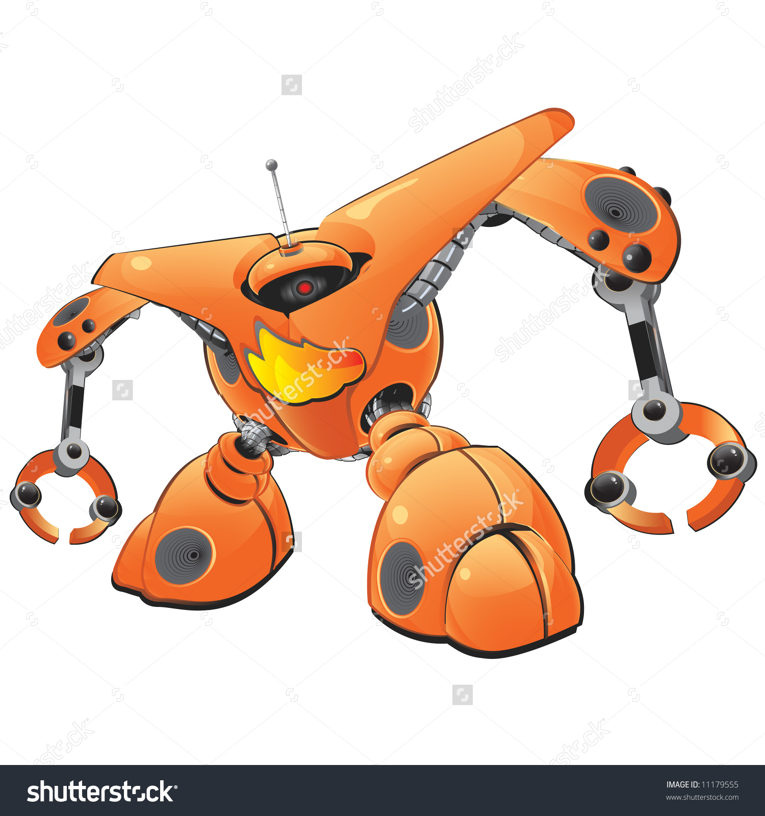 A Giant Orange Robot, Created As Part Of An Internet Robot Series.