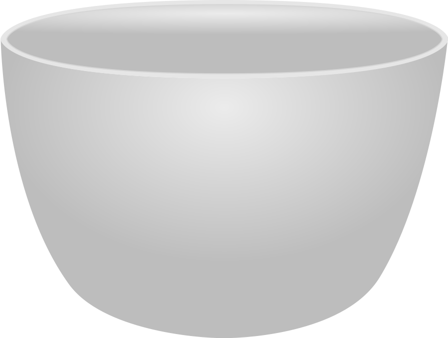 Plain Bowl large 900pixel clipart, Plain Bowl design.