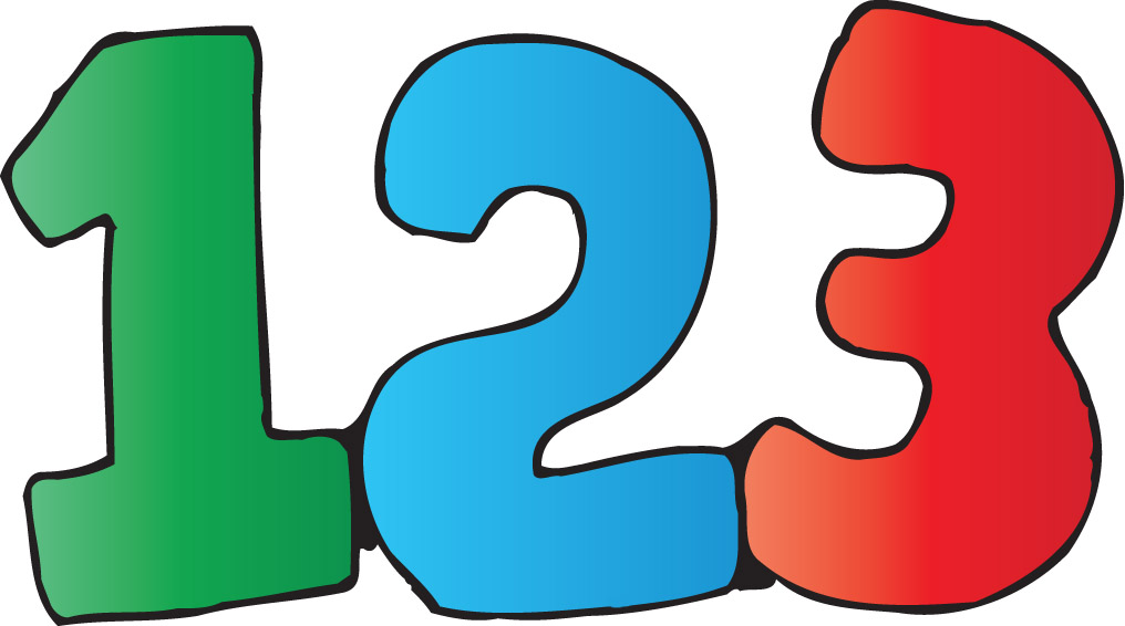 Counting 123 Clipart.