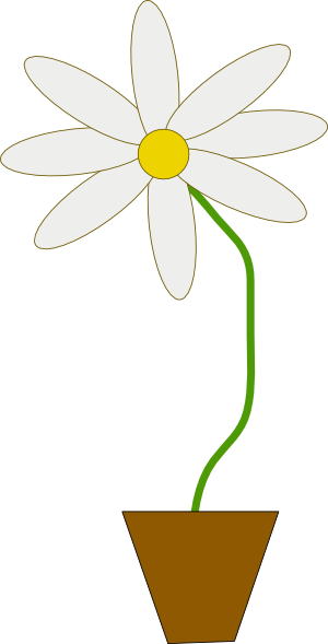 Flower In A Pot clip art Free Vector / 4Vector.