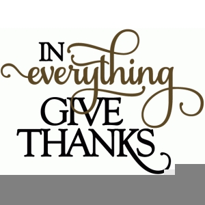In All Things Give Thanks Clipart.