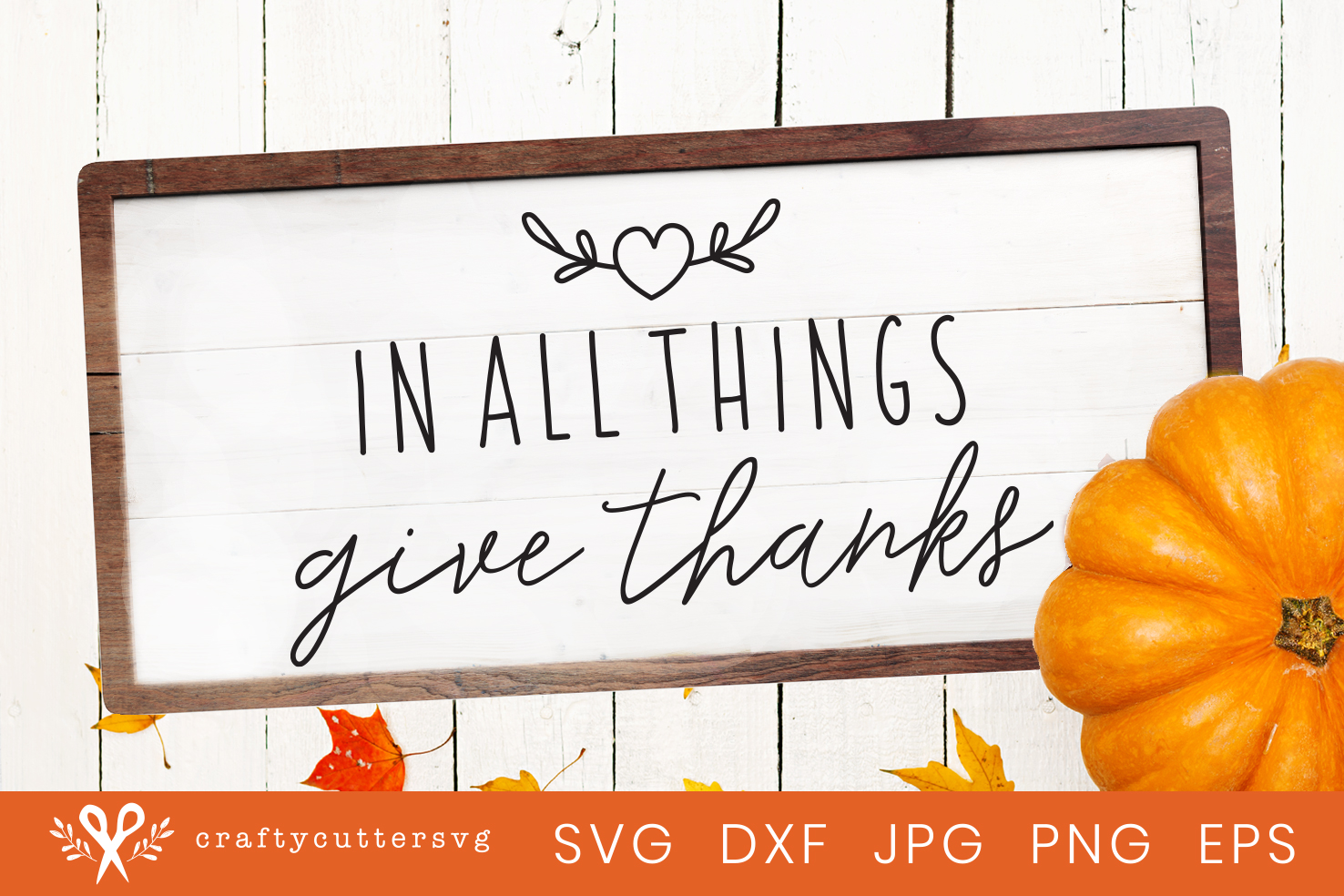 Thanksgiving Svg Cut File In all things give thanks Clipart.