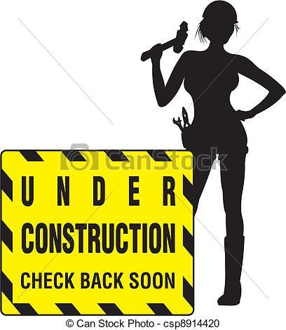 Women Under Construction Clipart.