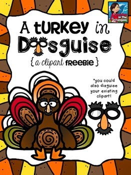 Turkey In Disguise Clipart.