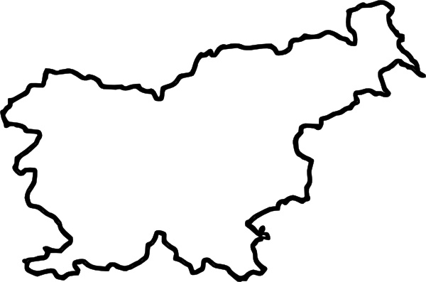 Map Of Slovenia (in Europe) clip art Free vector in Open office.