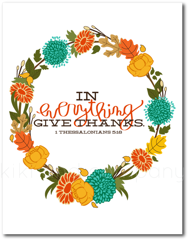 In Everything Give Thanks 8x10.