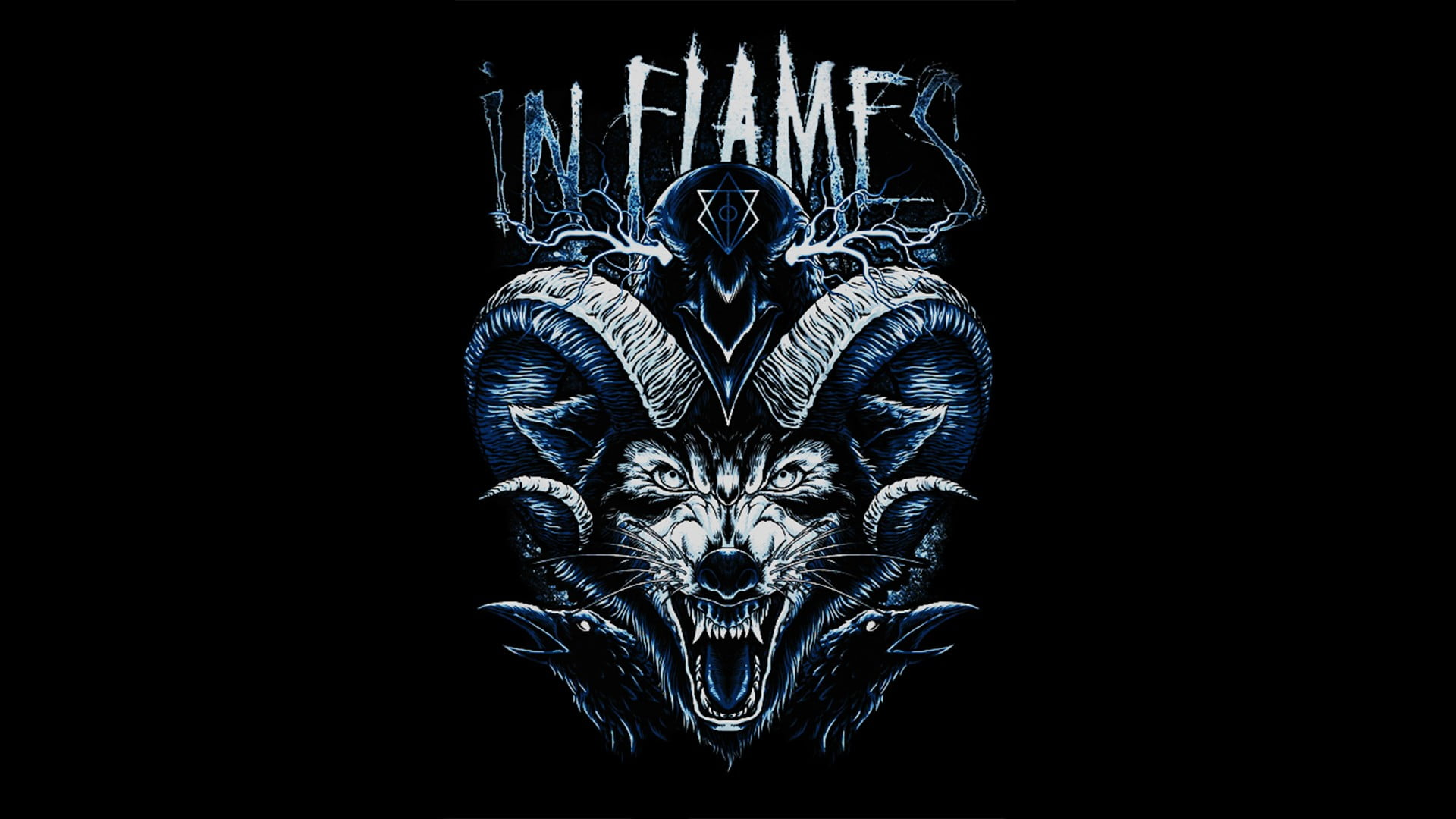 In Flames logo, In Flames, wolf, raven, Jesterhead HD.