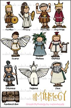 Roman Mythology Clipart.