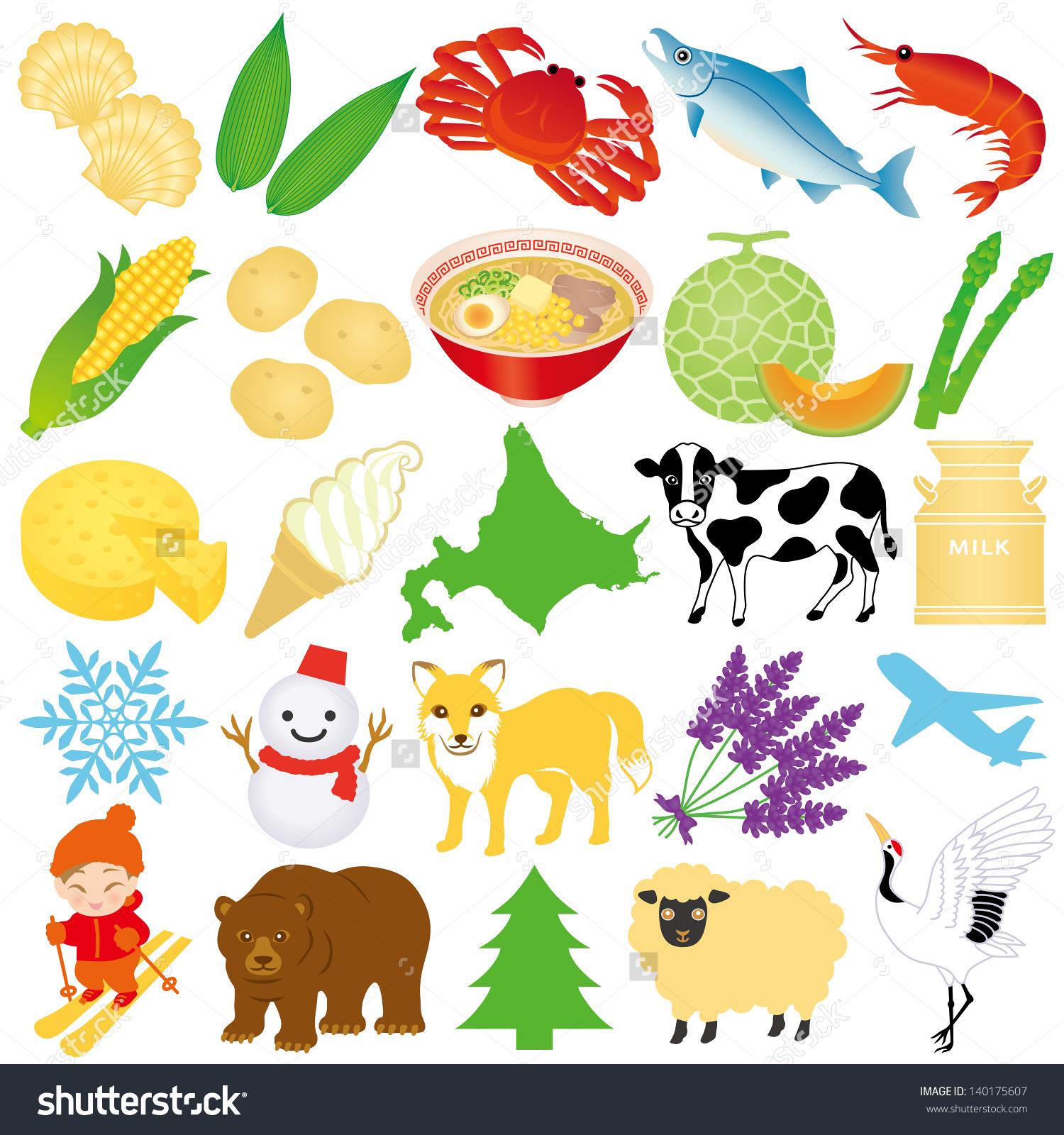 Hokkaido Illustrations Stock Vector 140175607.