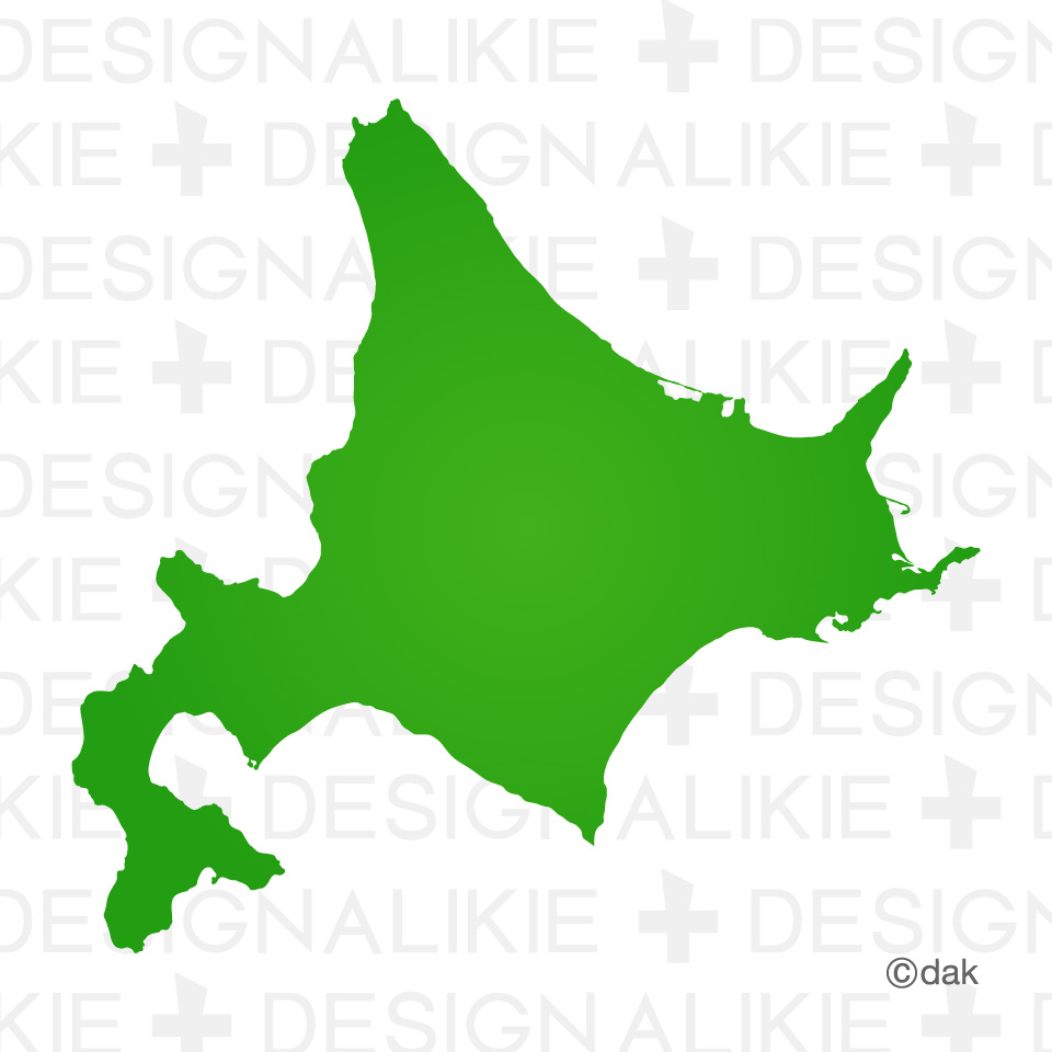 Hokkaido map material|Pictures of clipart and graphic design and.