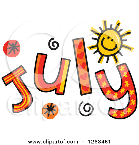 Month Of July Clipart.