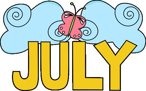 July Clip Art.