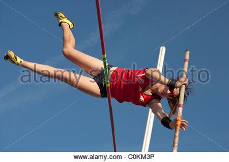Pole Vault Athletics Stock Photo, Royalty Free Image: 78015281.